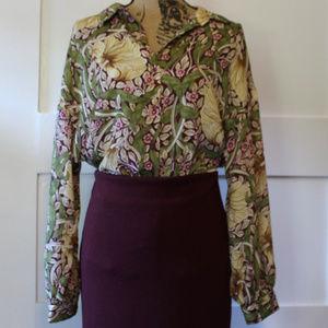 Morris & Co. X H&M Floral Long Sleeve Blouse